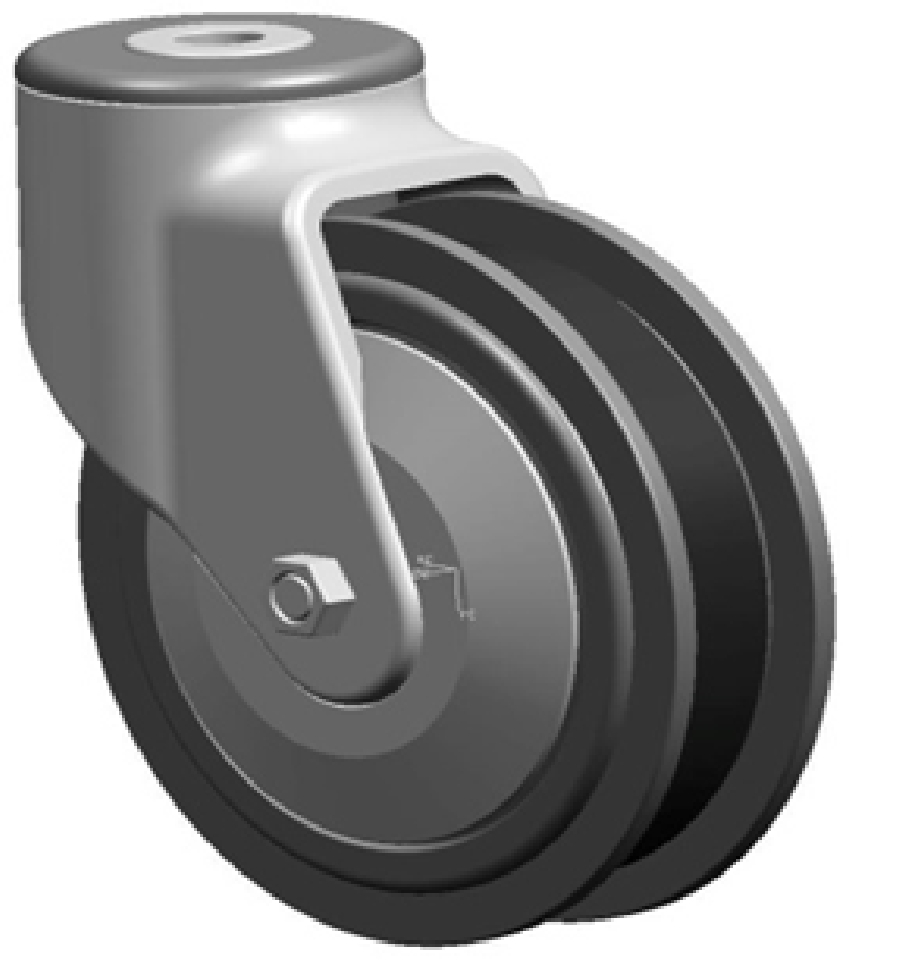 5 Inch Plastic Castors With Walk Way Wheel (Rigid)